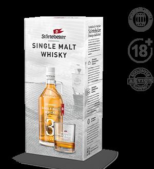 Störtebeker Single Malt Whisky Klassik 3J. 0,5l mit Tumbler (Geschenkkarton)